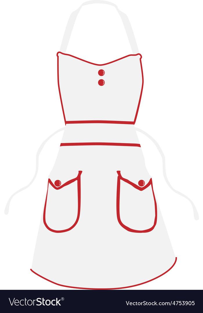 White apron vector | Price: 1 Credit (USD $1)