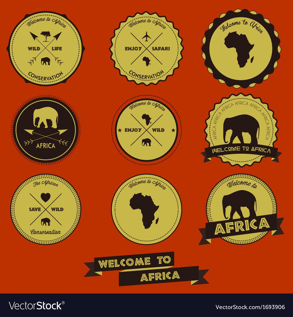 Africa label design vector | Price: 1 Credit (USD $1)