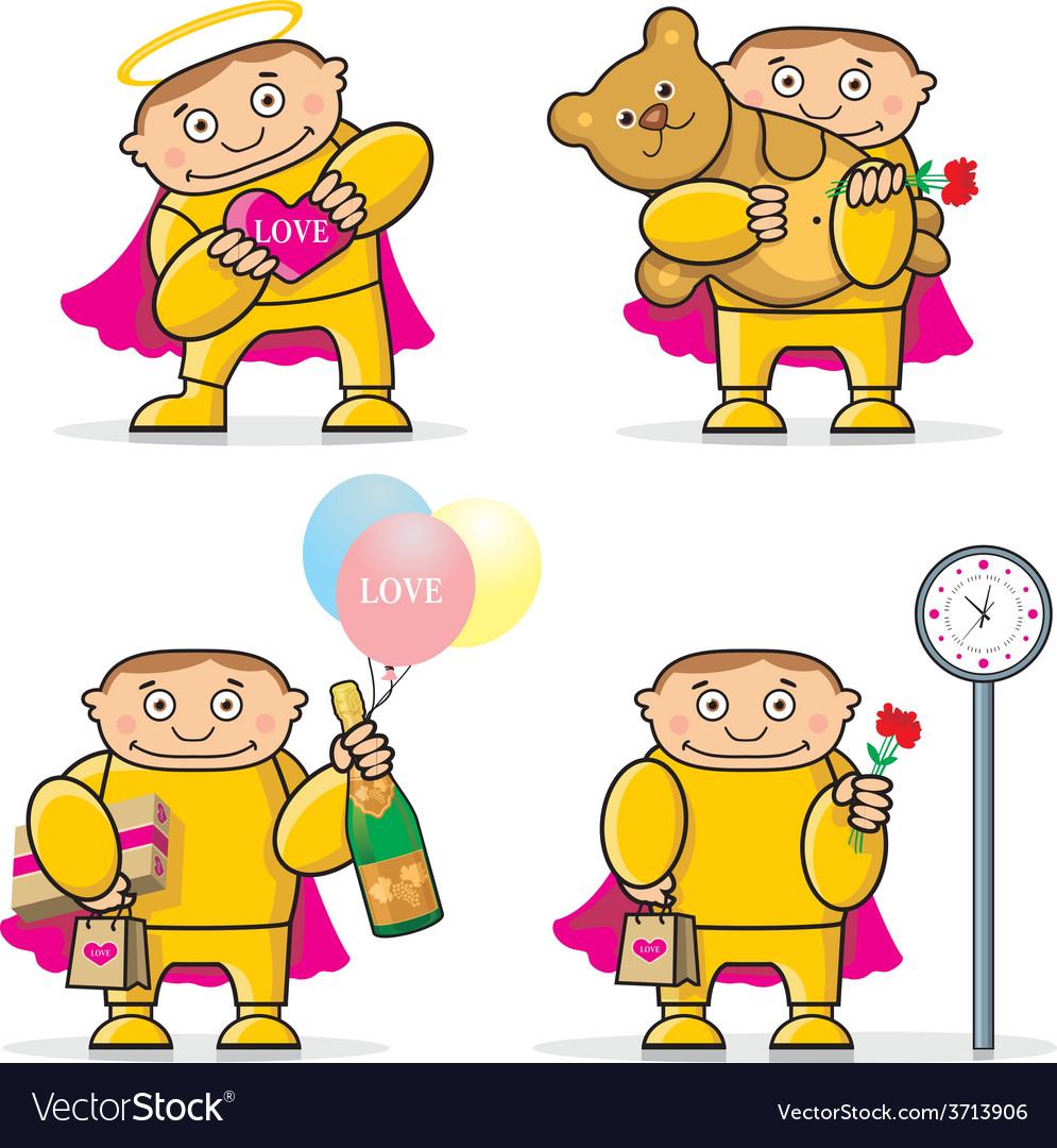 Cartoon valentines day icon vector | Price: 1 Credit (USD $1)