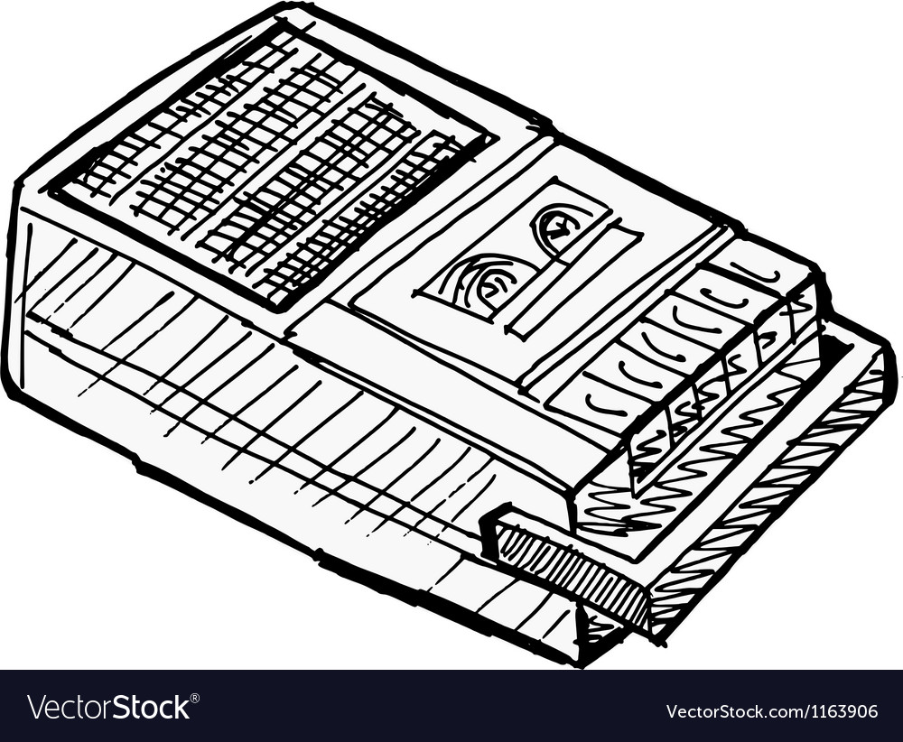 Compact tape recorder vector | Price: 1 Credit (USD $1)