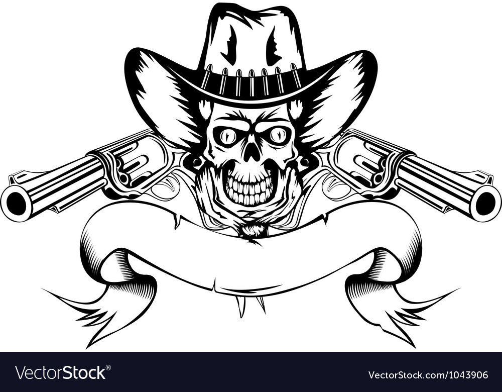 Cowboy with revolvers vector | Price: 1 Credit (USD $1)