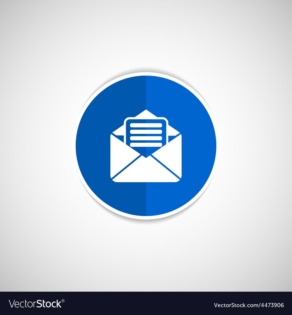 Envelope icon letter post email envelope vector | Price: 1 Credit (USD $1)