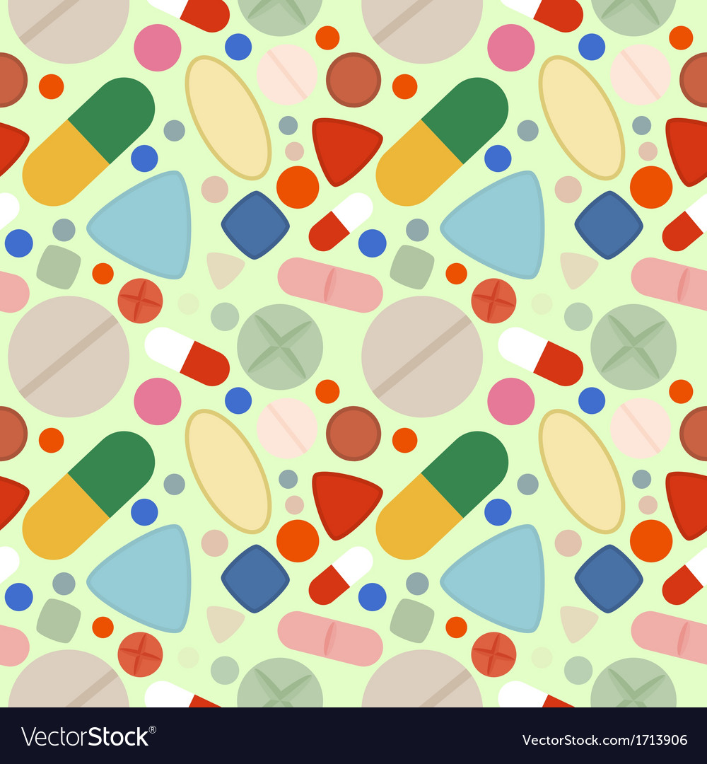 Flat background of pills vector | Price: 1 Credit (USD $1)