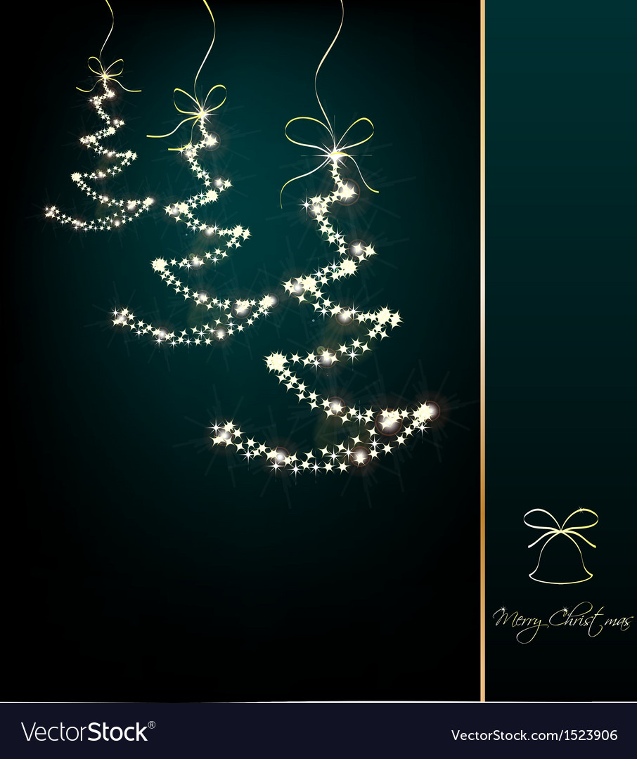 Funny sparkler trees cyan background vector | Price: 1 Credit (USD $1)