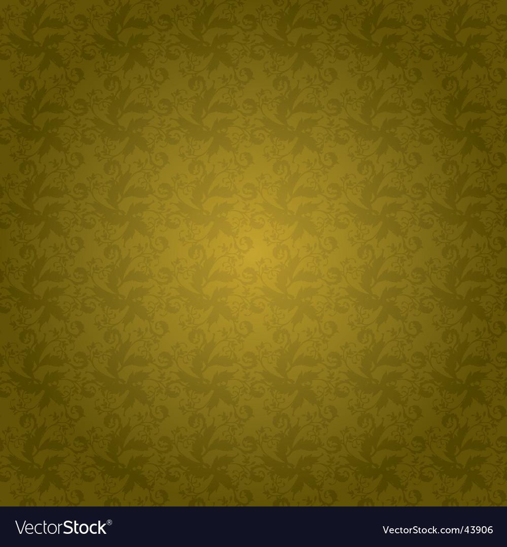 Golden floral tile vector