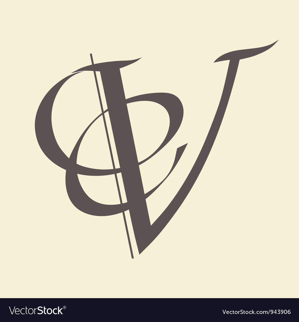 Letter v vector | Price: 1 Credit (USD $1)