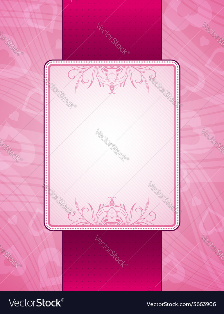 Pink background with hearts vector | Price: 1 Credit (USD $1)