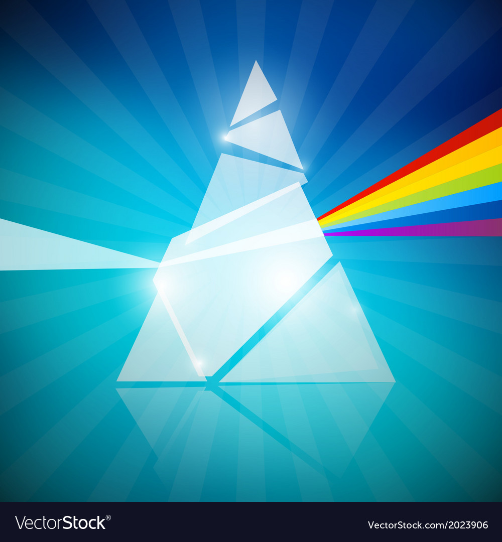 Prism spectrum on blue background vector | Price: 1 Credit (USD $1)