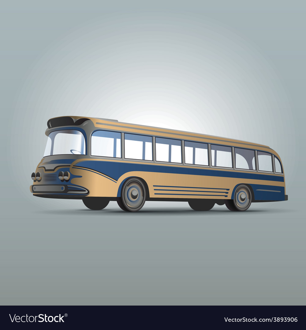 Retrobus2 vector | Price: 1 Credit (USD $1)