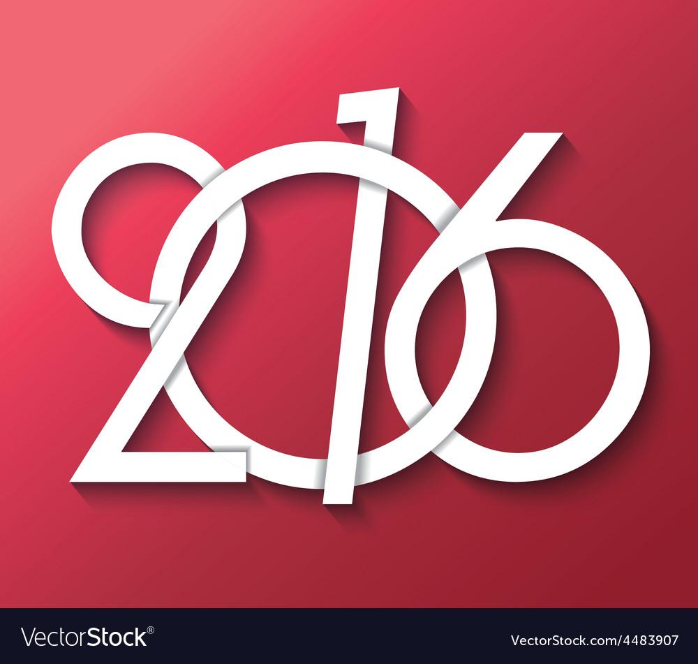 2016 creative greeting card design vector | Price: 1 Credit (USD $1)