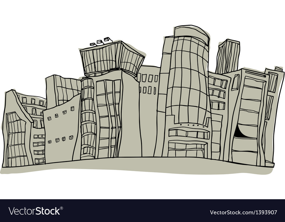A view of city vector | Price: 1 Credit (USD $1)