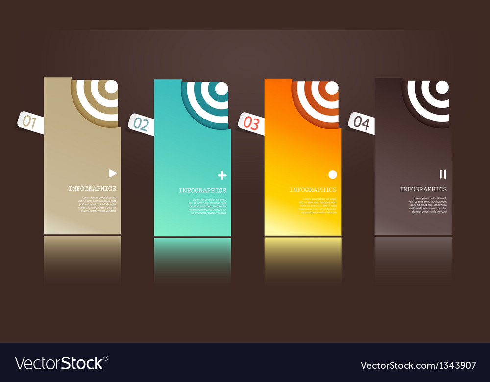 Four separate gift cards with circles vector | Price: 1 Credit (USD $1)