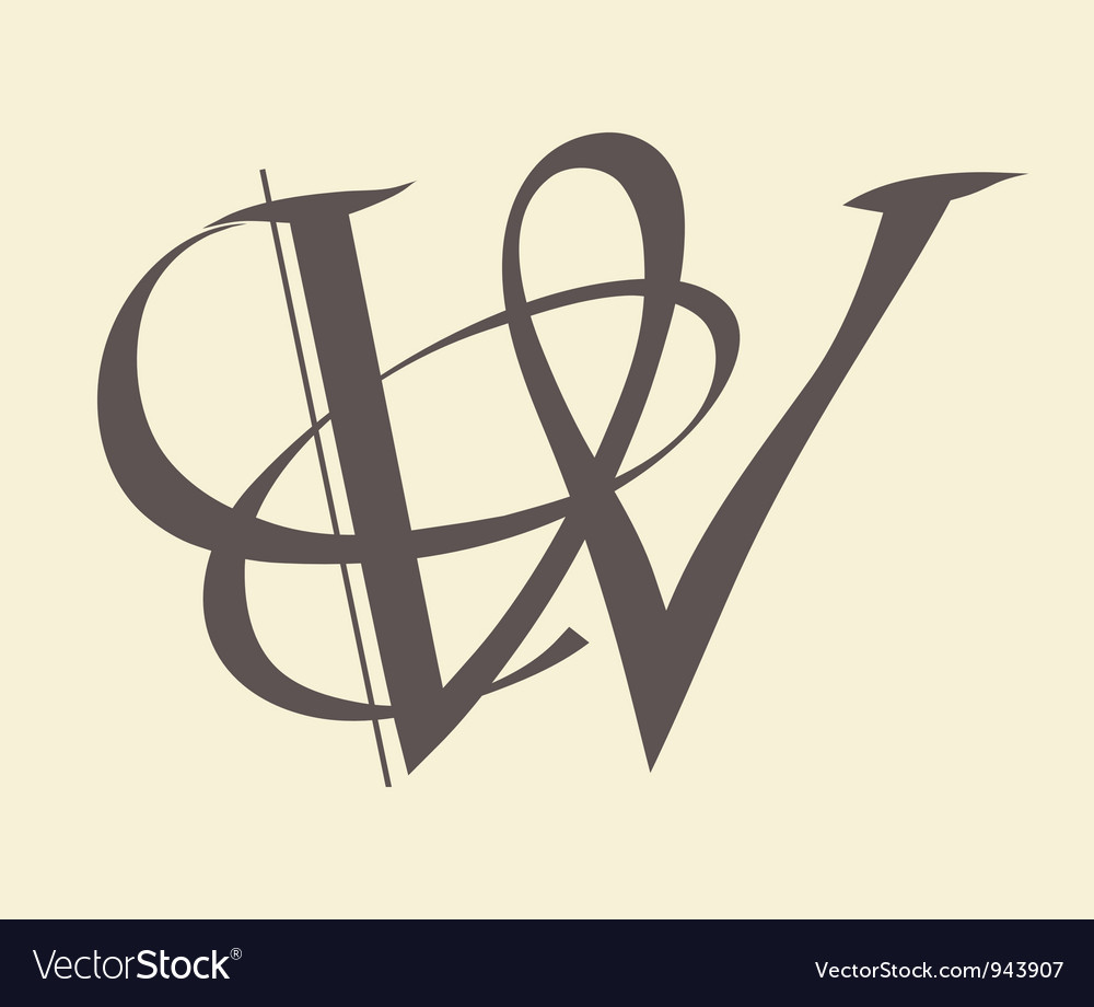 Letter w vector | Price: 1 Credit (USD $1)