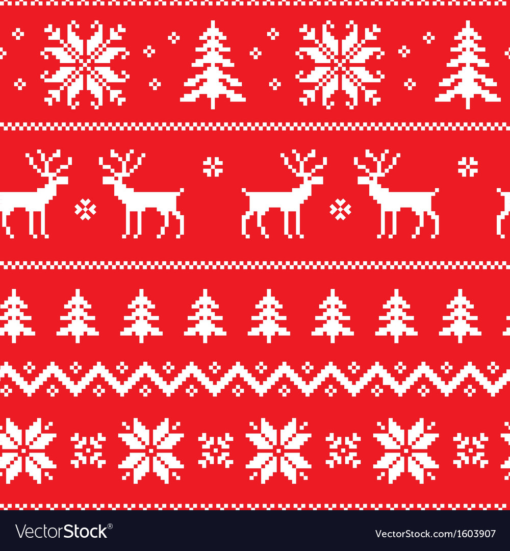 Seamless pattern with classical sweater design vector | Price: 1 Credit (USD $1)