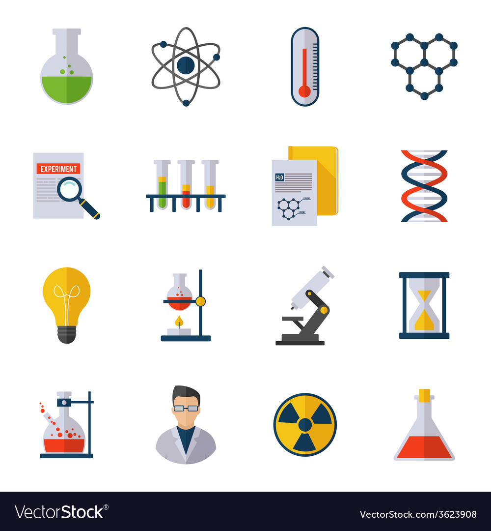Chemistry icon flat vector | Price: 1 Credit (USD $1)