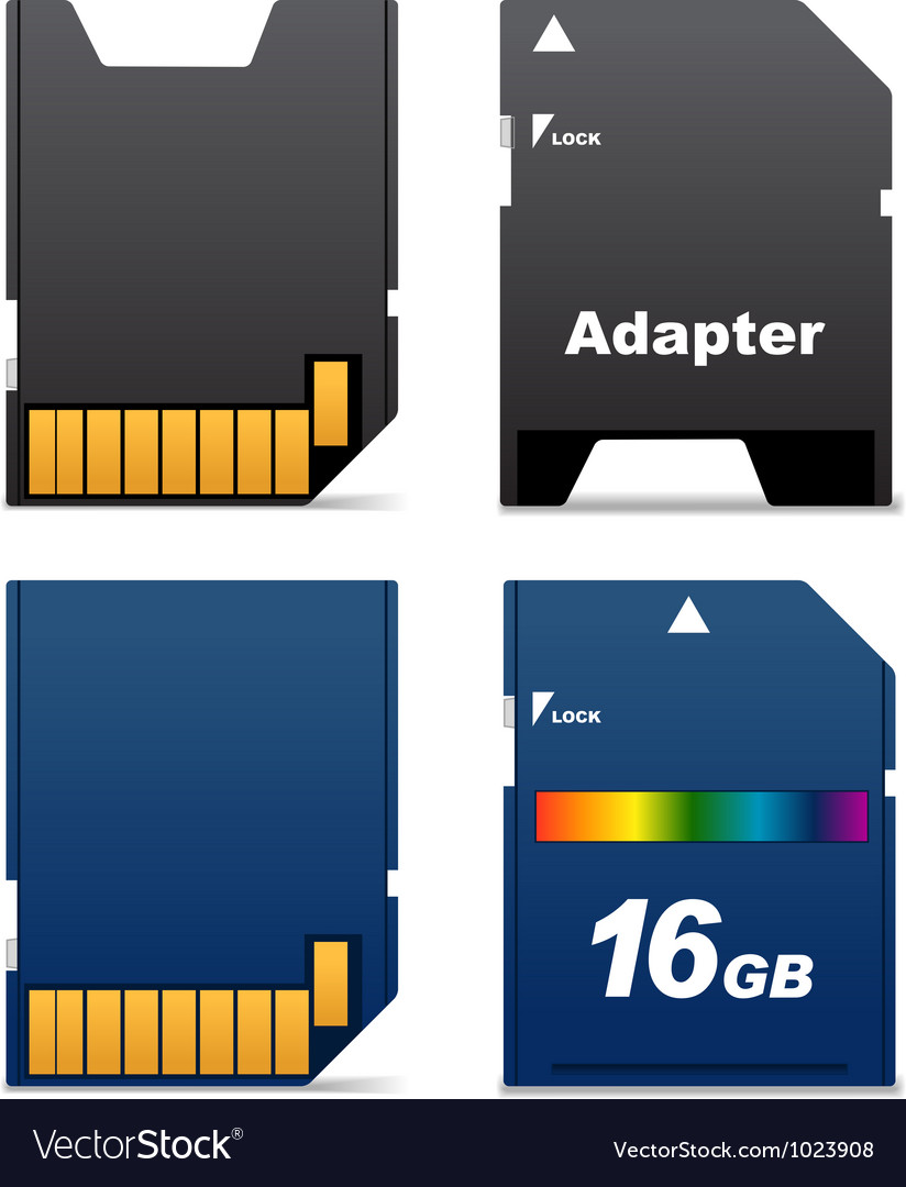 Digital card and adapter vector | Price: 1 Credit (USD $1)