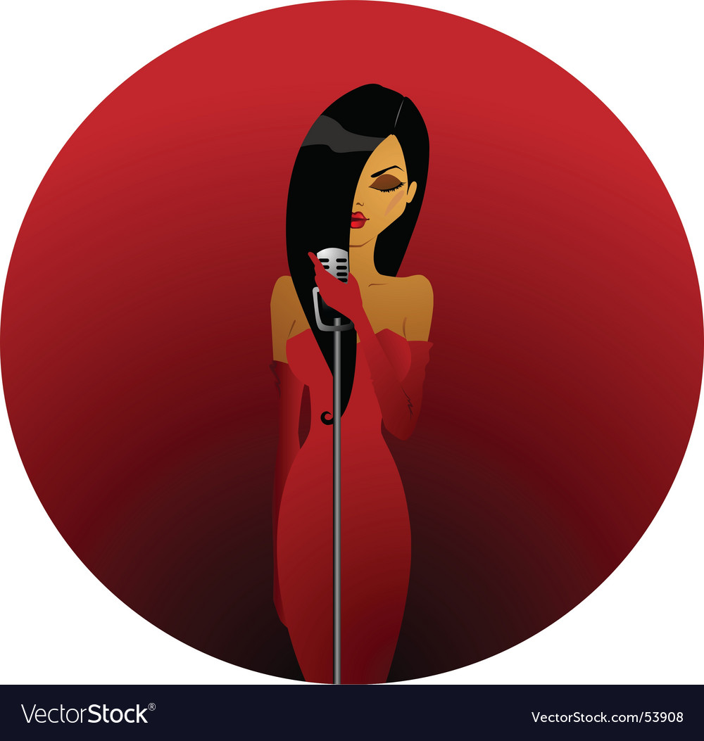 Diva in red vector | Price: 1 Credit (USD $1)