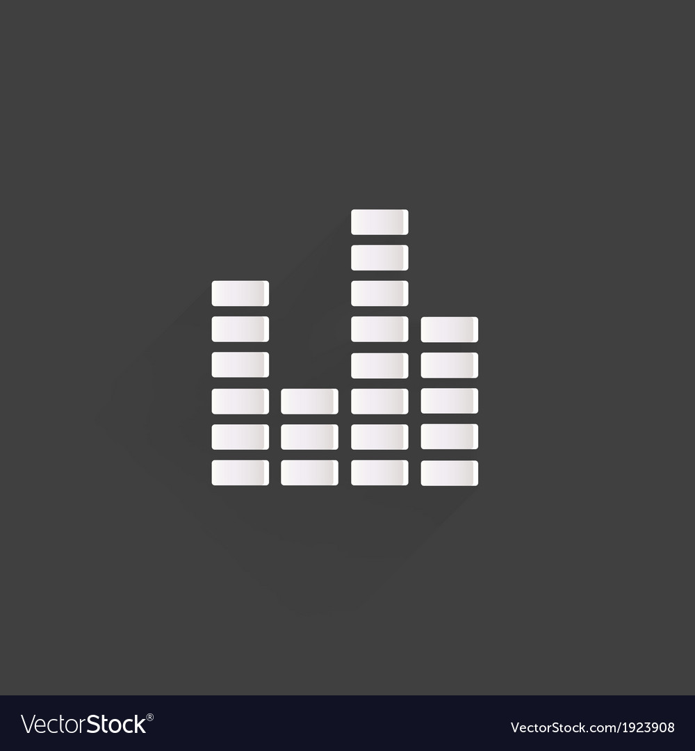 Equalizer icon music sound wave symbol vector   Price: 1 Credit (USD $1)