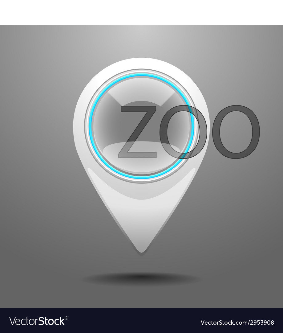 Glossy zoo icon vector | Price: 1 Credit (USD $1)