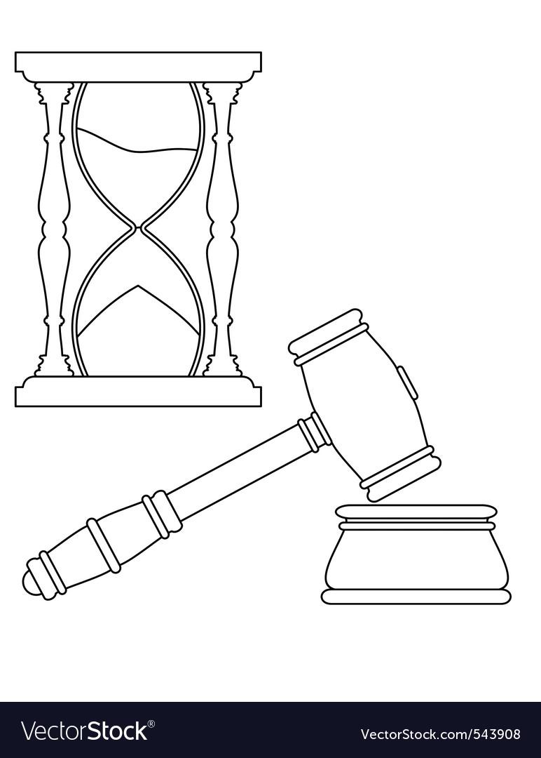 Hourglass contour vector | Price: 1 Credit (USD $1)