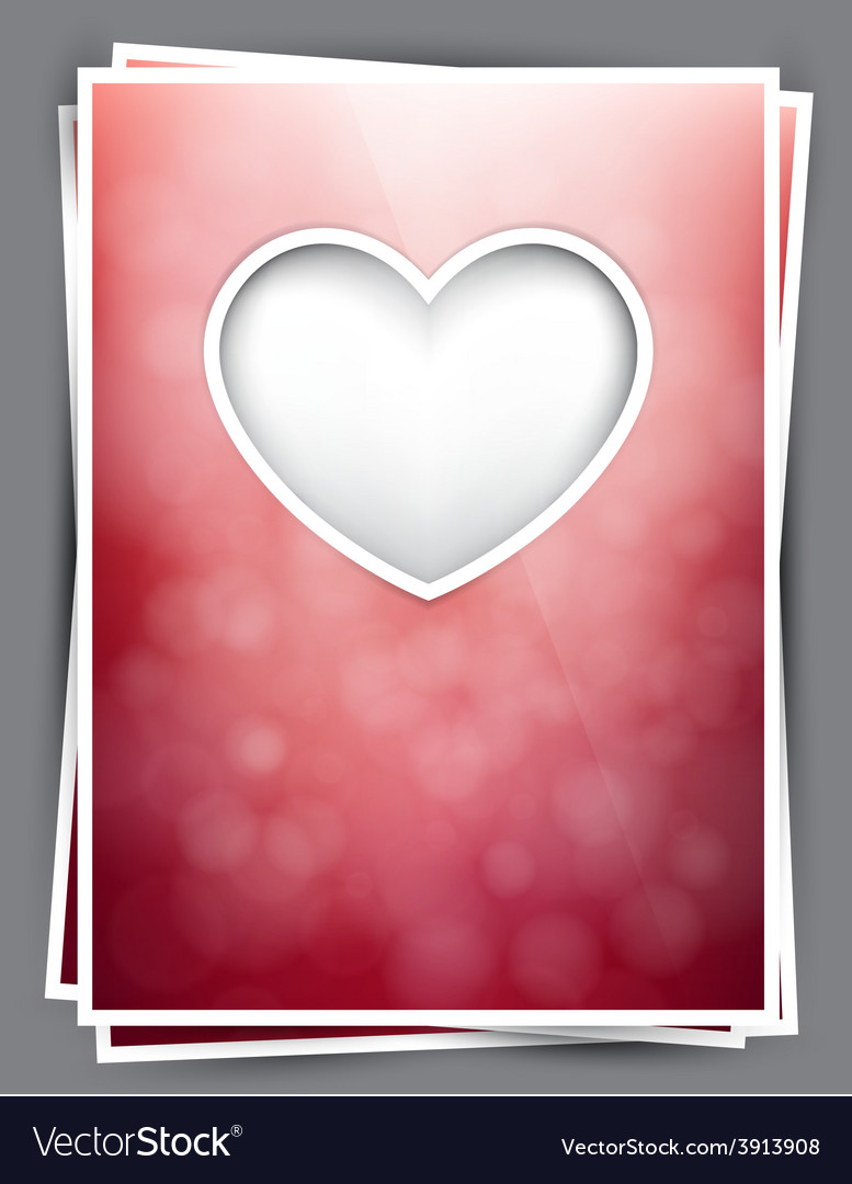 Love valentine postcard vector | Price: 1 Credit (USD $1)