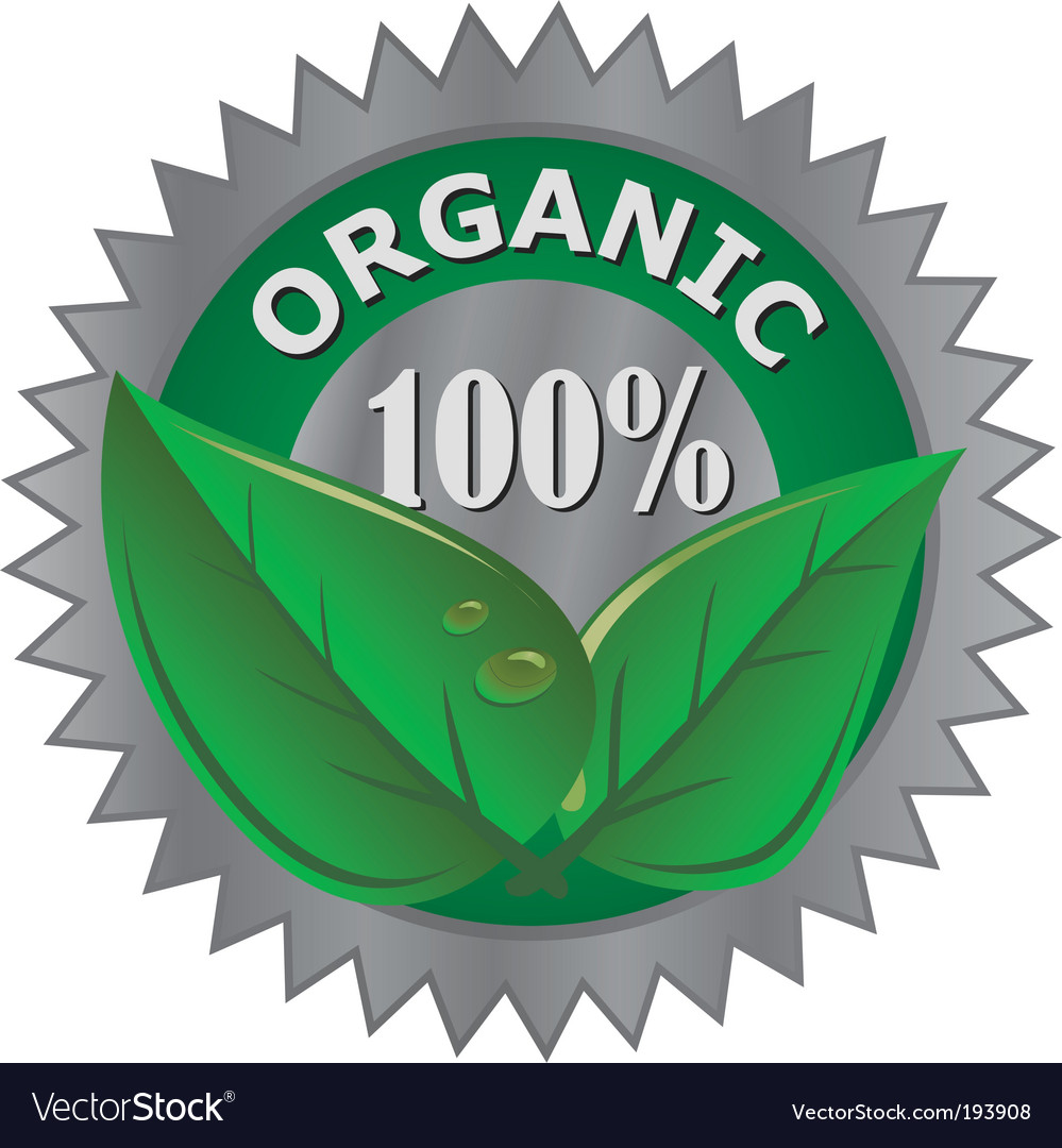 Organic product label vector | Price: 1 Credit (USD $1)