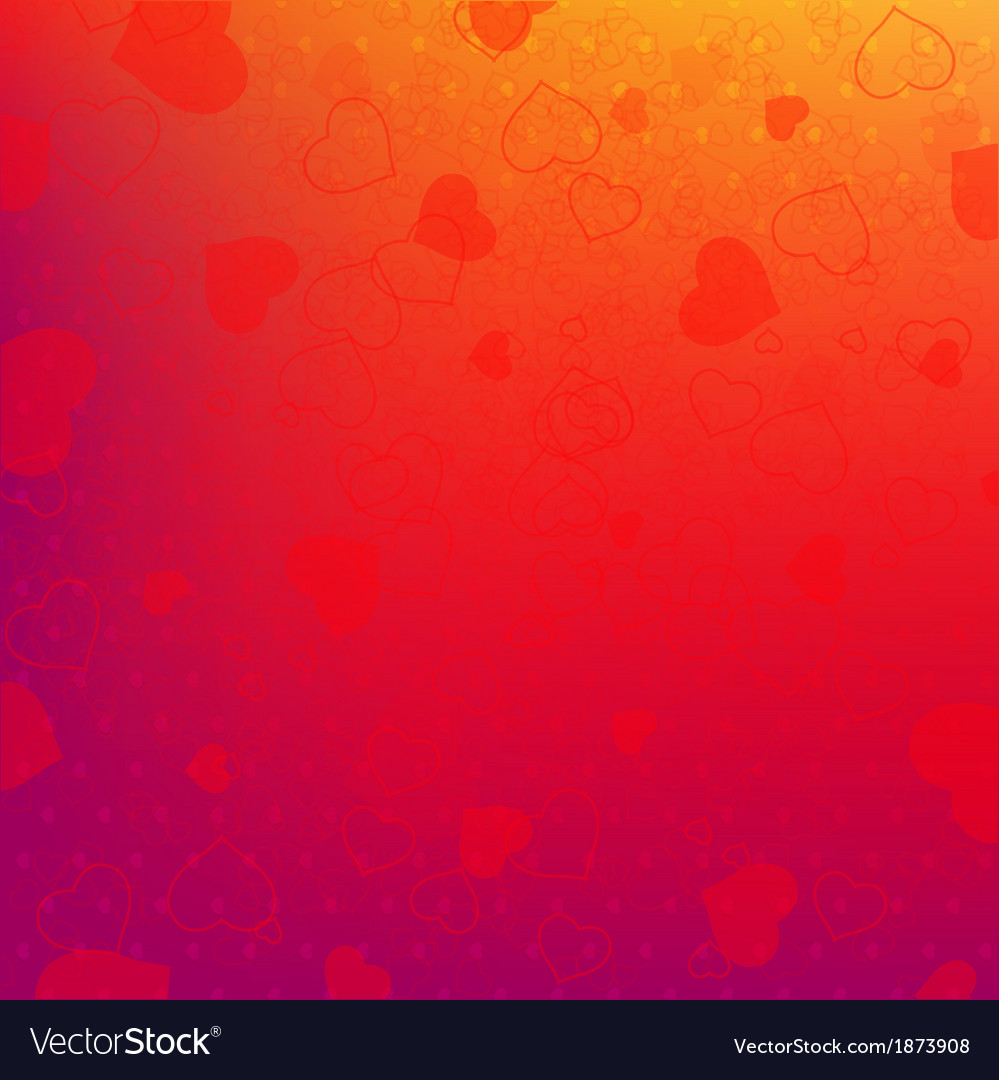Red and orange background with red hearts vector | Price: 1 Credit (USD $1)