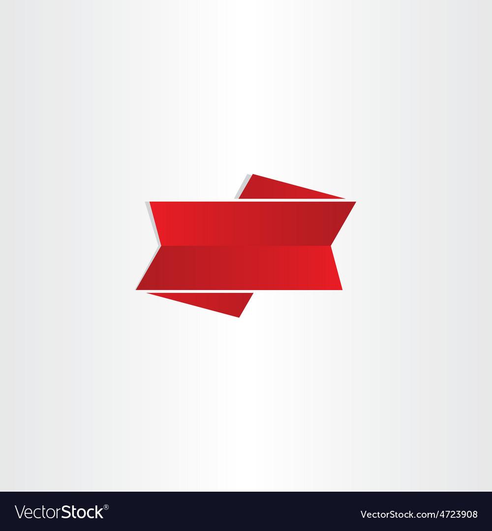 Red ribbon design element vector | Price: 1 Credit (USD $1)
