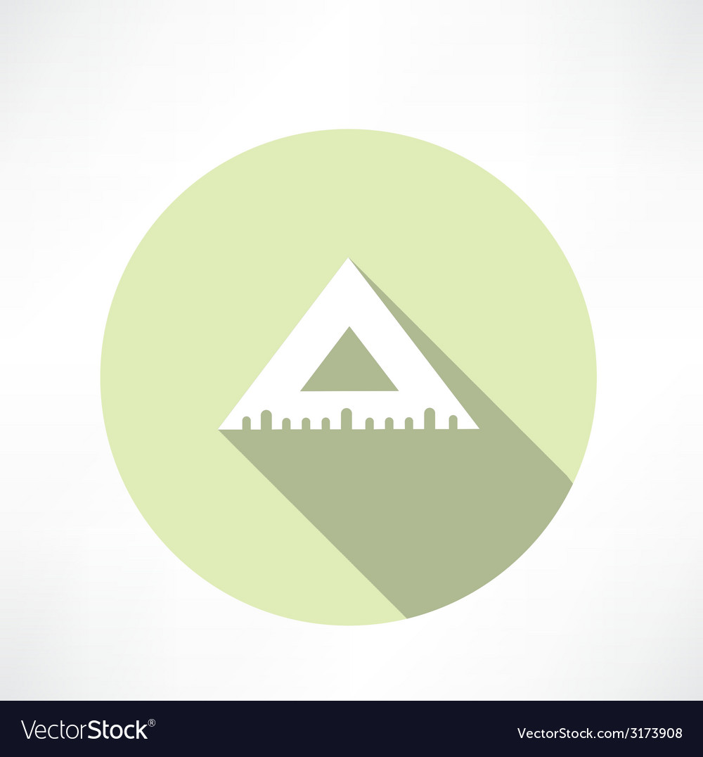 Rulers triangular icon vector | Price: 1 Credit (USD $1)