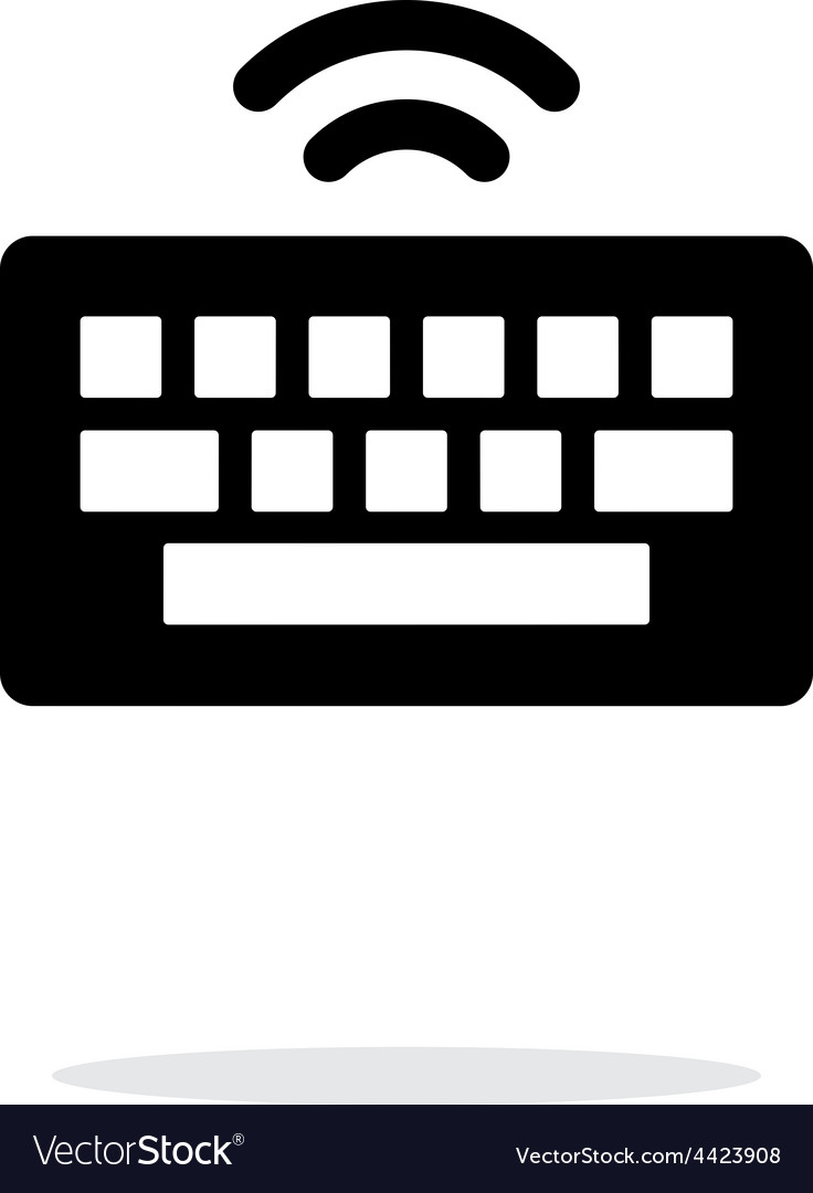 Wireless keyboard icon on white background vector | Price: 1 Credit (USD $1)