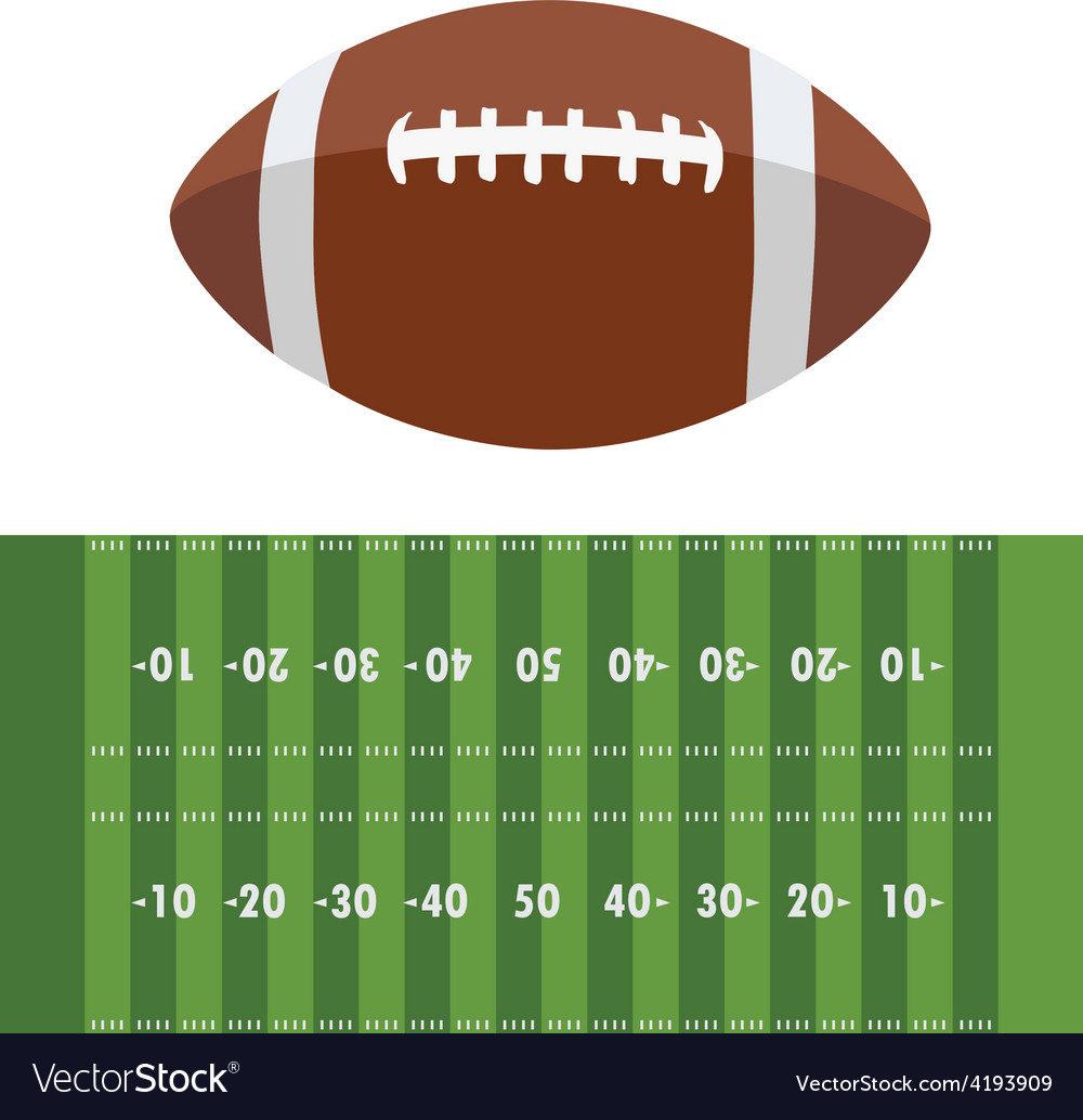 American football field and ball vector | Price: 1 Credit (USD $1)