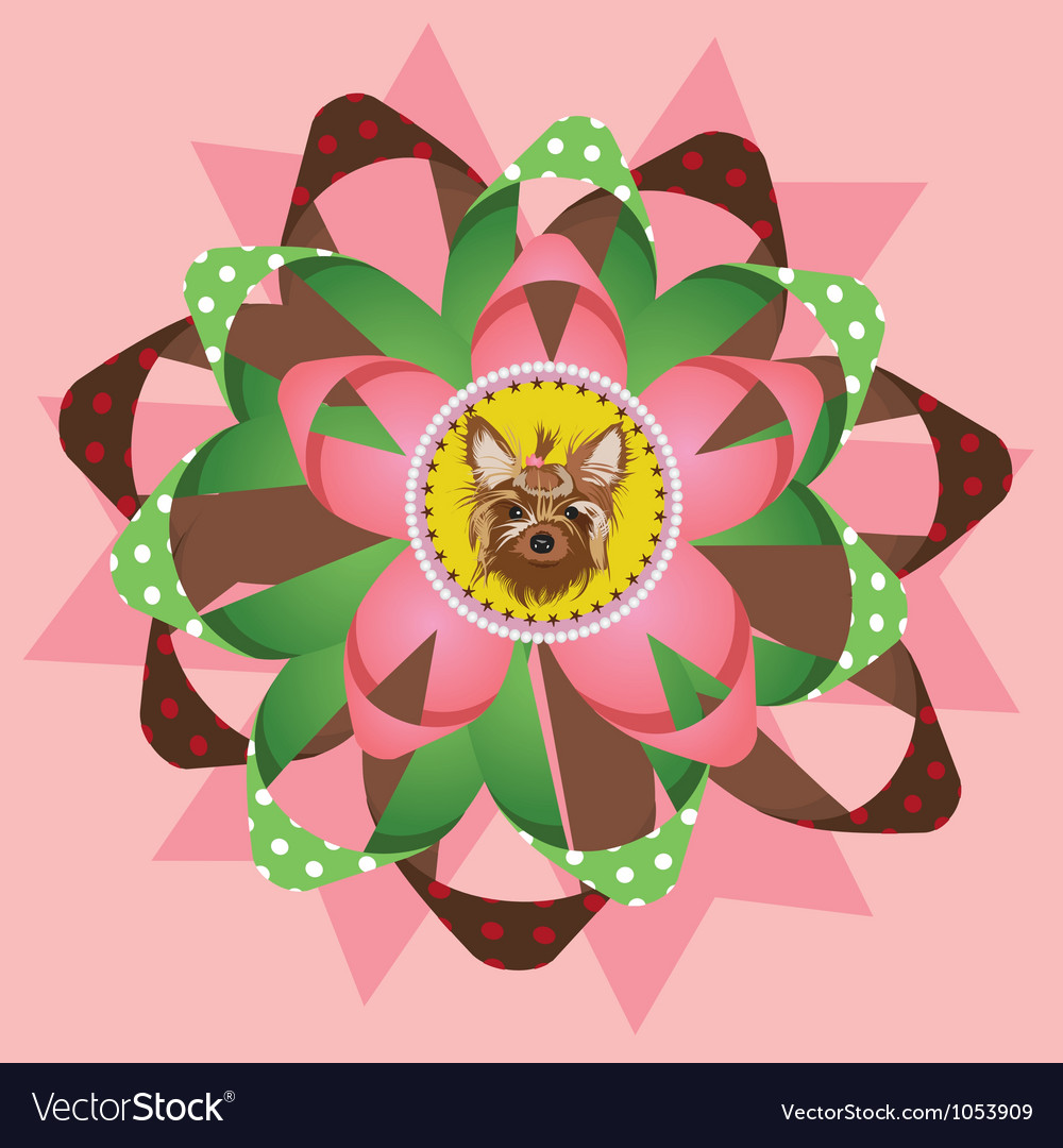 Beautiful yorkshire terrier award vector | Price: 1 Credit (USD $1)