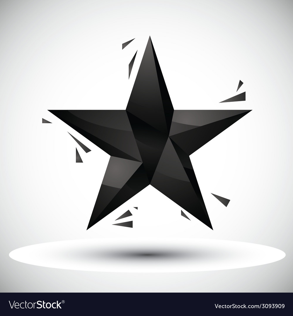 Black star geometric icon made in 3d modern style vector   Price: 1 Credit (USD $1)