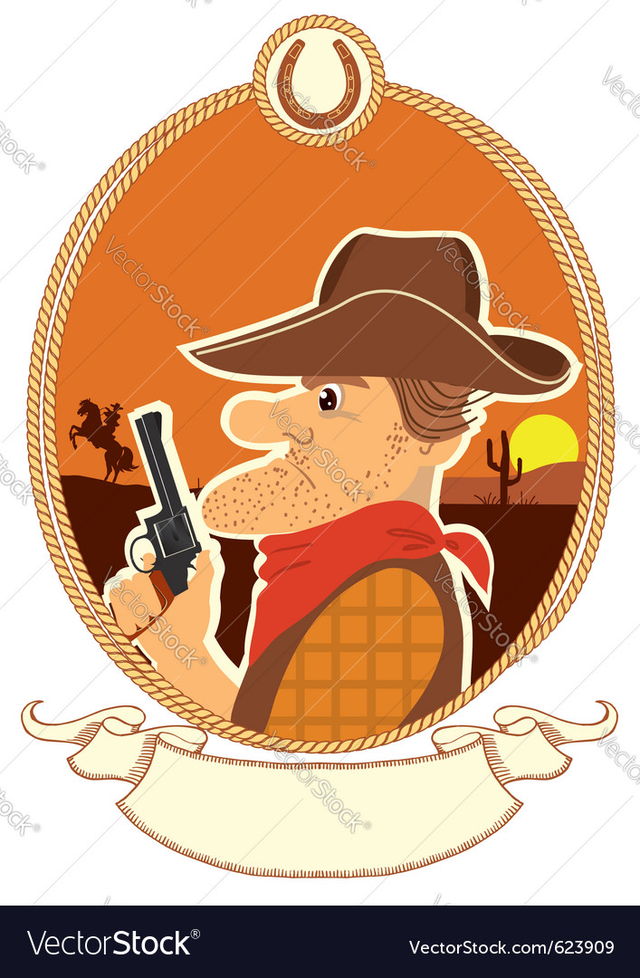 Cowboy portrait vector | Price: 1 Credit (USD $1)