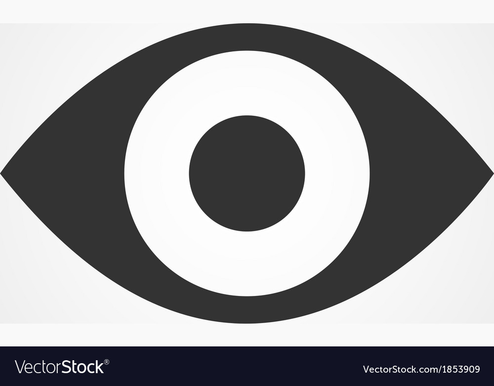 Eye icon flat design vector | Price: 1 Credit (USD $1)