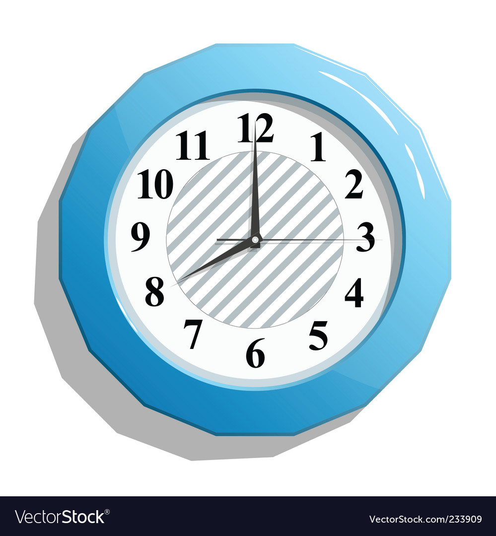 Glossy clock vector | Price: 3 Credit (USD $3)