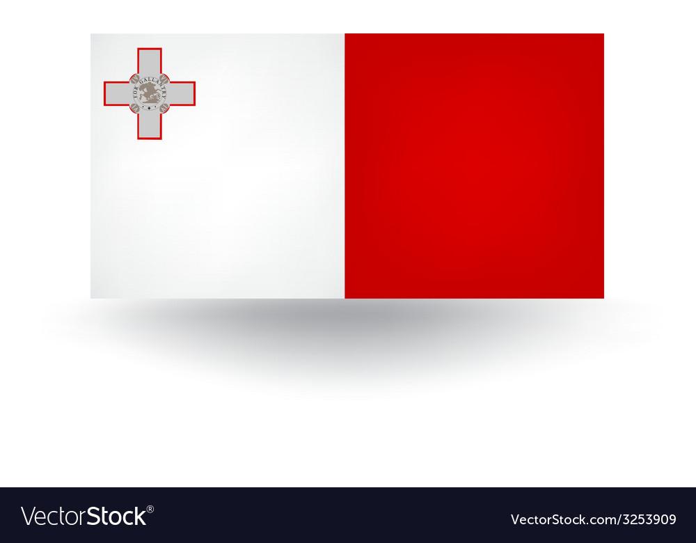 Malta flag vector | Price: 1 Credit (USD $1)
