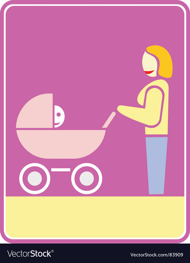 Mother and little child vector | Price: 1 Credit (USD $1)