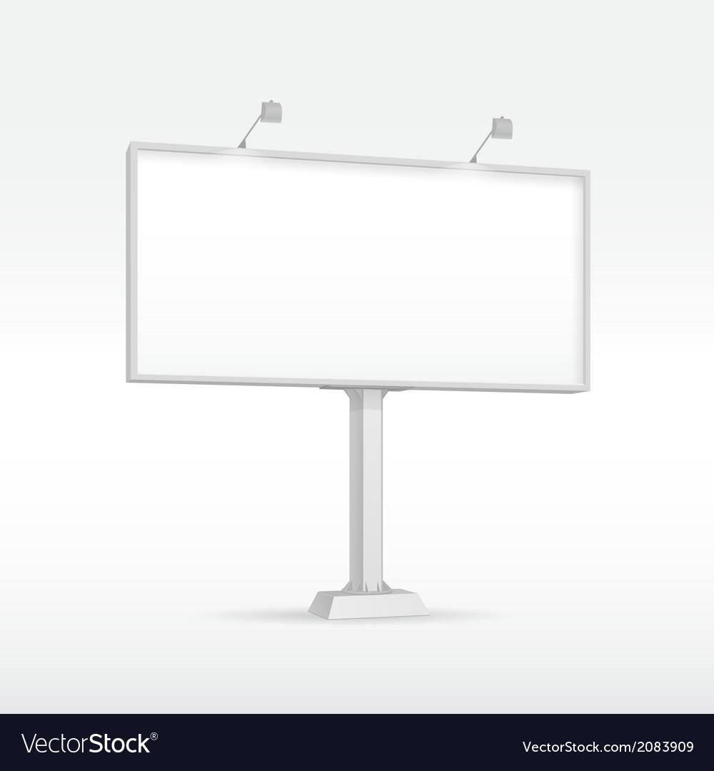Outdoor billboard with lighting vector   Price: 1 Credit (USD $1)