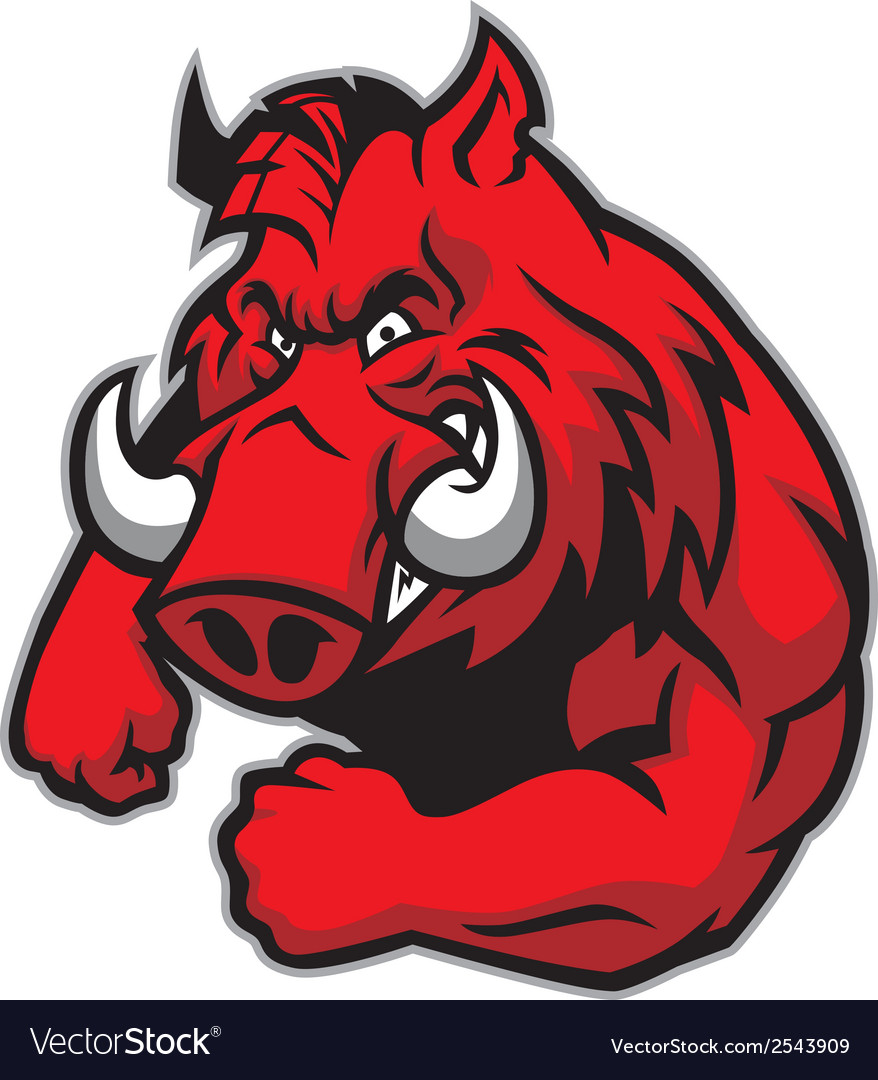 Razorback mascot vector | Price: 3 Credit (USD $3)