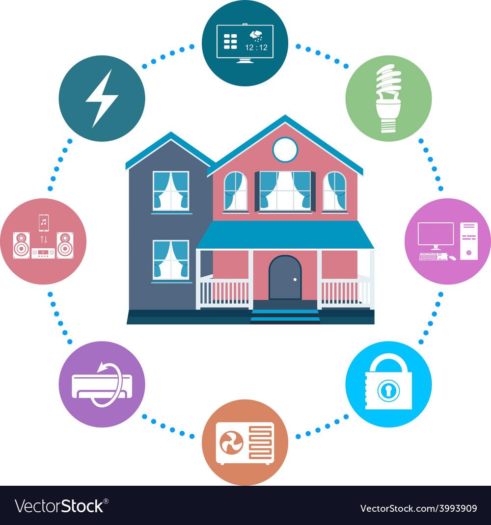 Smart home vector   Price: 1 Credit (USD $1)