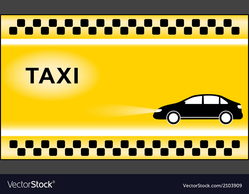 Taxi background with cab symbols light vector | Price: 1 Credit (USD $1)