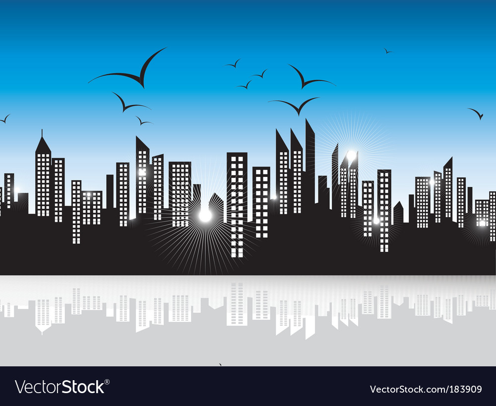Urban skyscrapers landscape vector | Price: 3 Credit (USD $3)