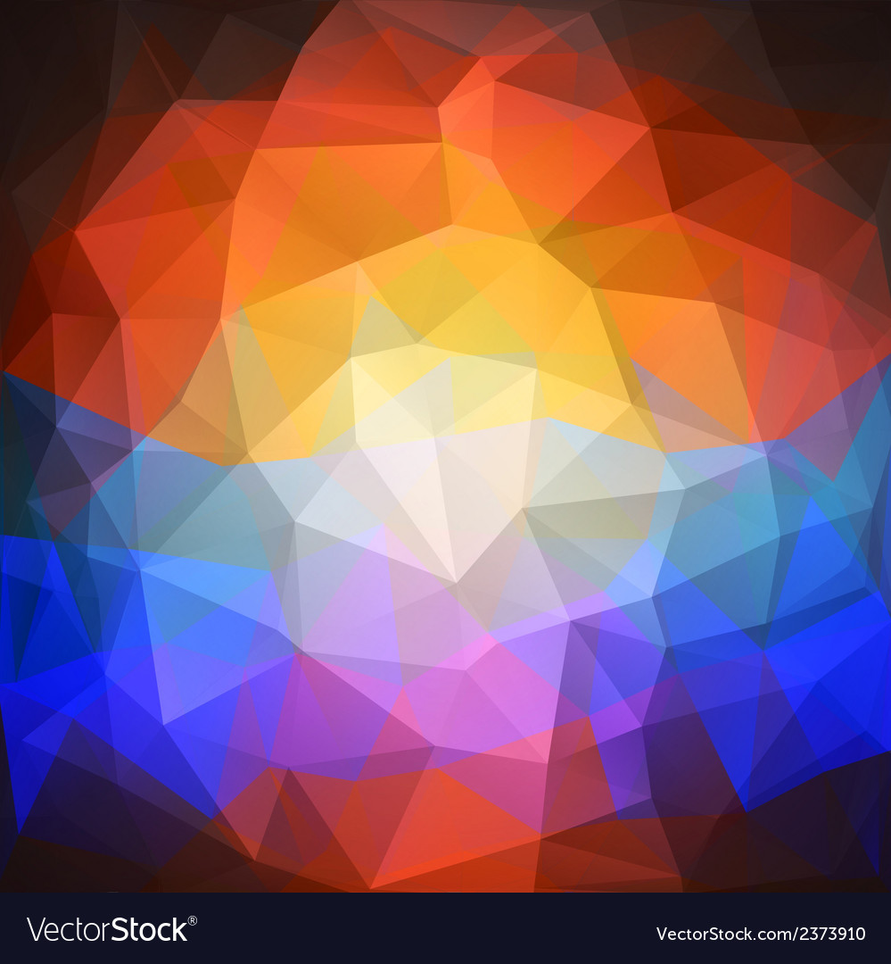 Abstract sunset background triangle design vector   Price: 1 Credit (USD $1)