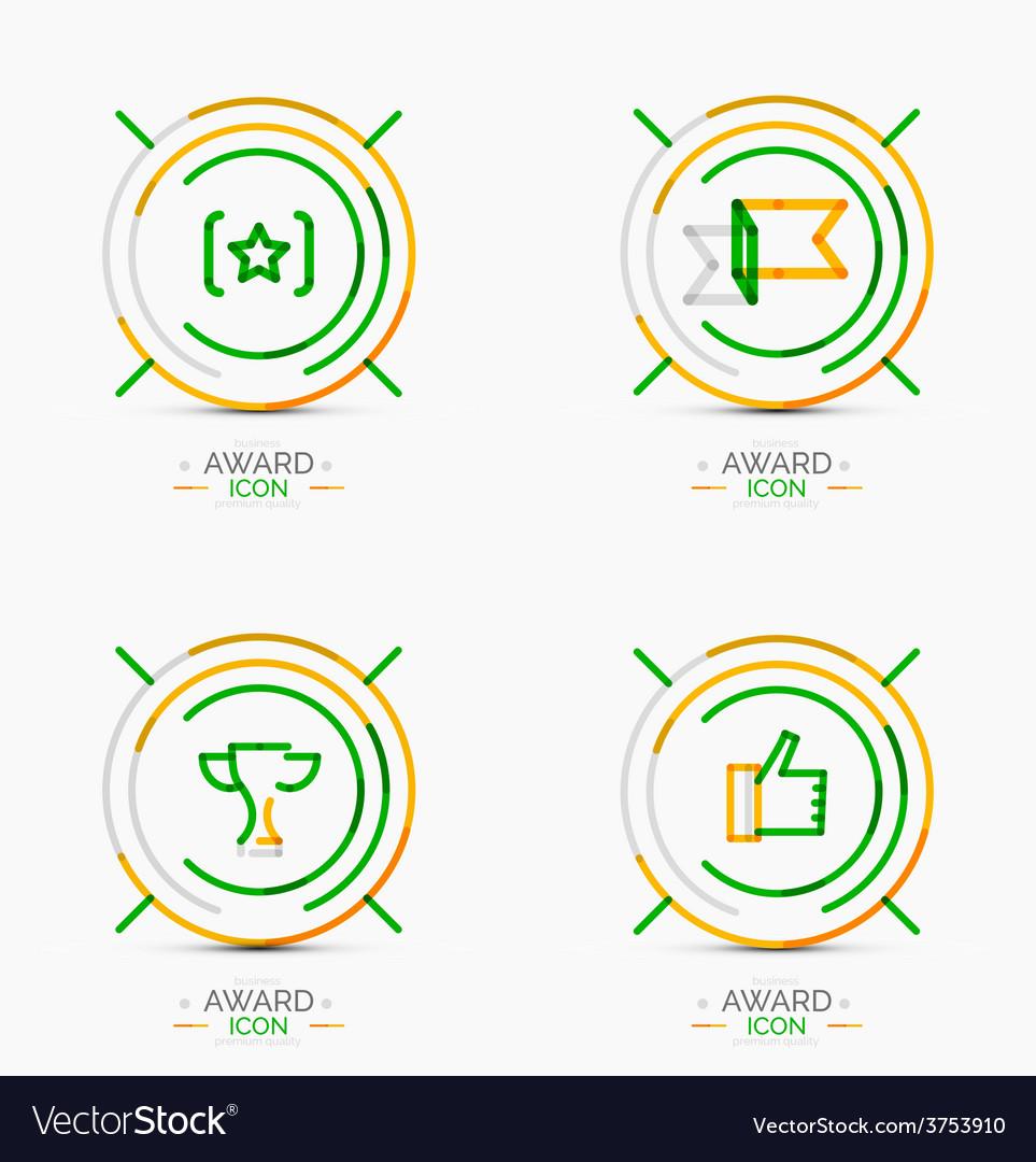 Award icon set logo collection vector   Price: 1 Credit (USD $1)