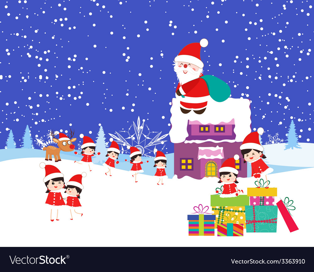 Christmas cartoons vector | Price: 1 Credit (USD $1)