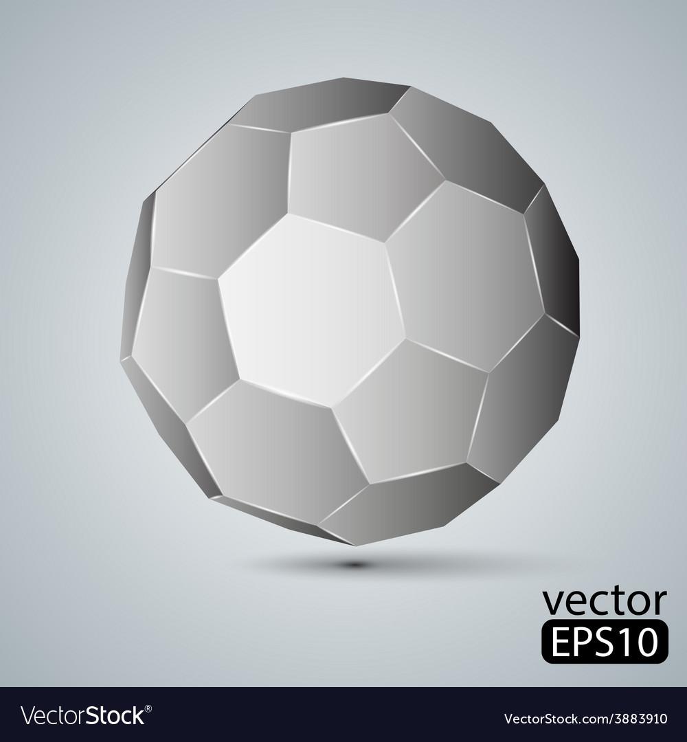 Geometric figure icosahedron vector | Price: 1 Credit (USD $1)