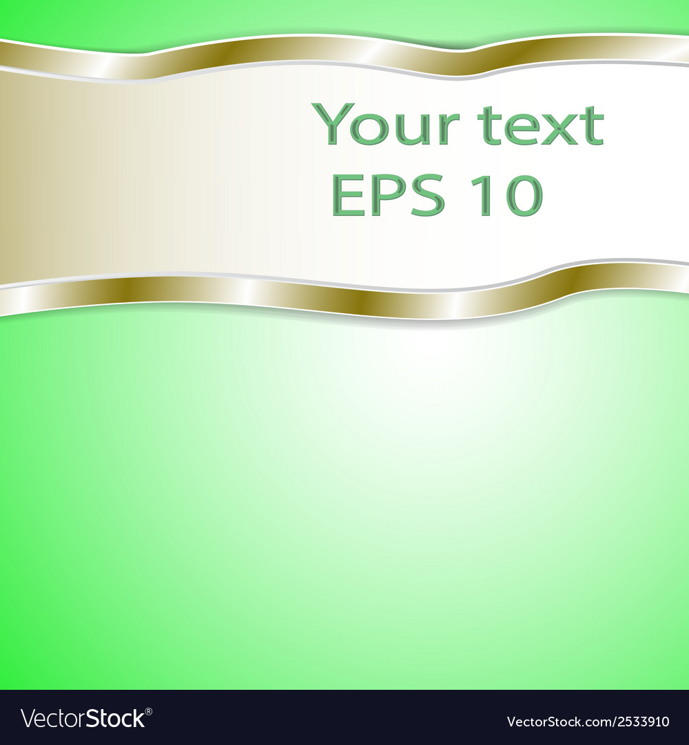 Graphic green background for text and message vector | Price: 1 Credit (USD $1)