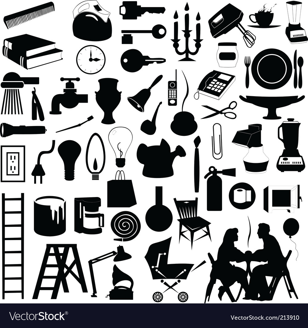 House subjects vector | Price: 1 Credit (USD $1)