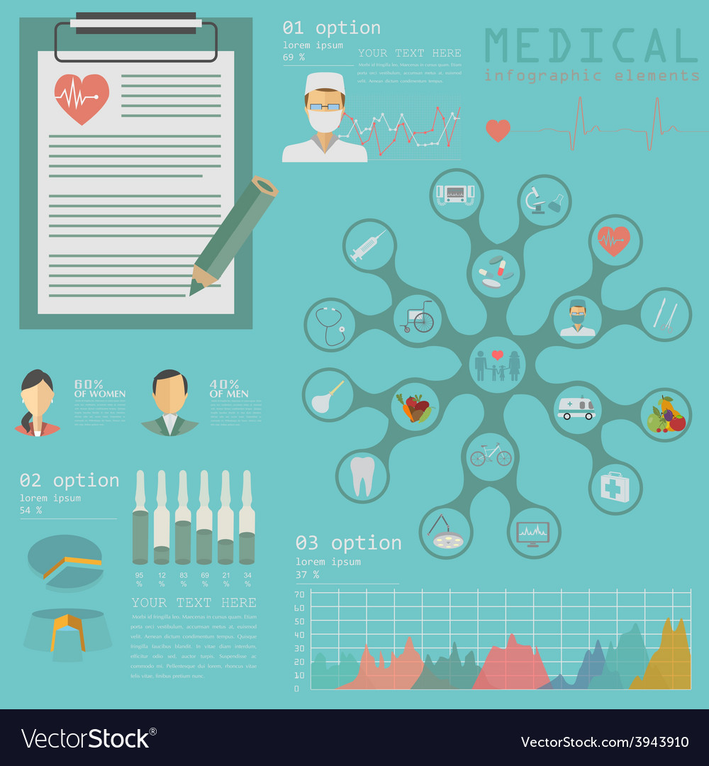 Medical and healthcare infographic elements for vector | Price: 1 Credit (USD $1)